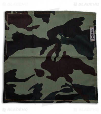 "Hanks by Hank 10"" x 10"" Handkerchief - Green Camo"