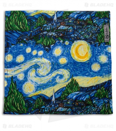 "Hanks by Hank 10"" x 10"" Handkerchief - Starry Night"