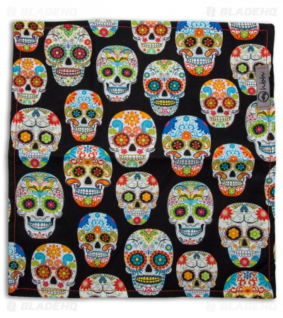 "Hanks by Hank 10"" x 10"" Handkerchief - Twisted Sugar Skull"