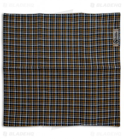 "Hanks by Hank 10"" x 10"" Handkerchief - Mustard Plaid"