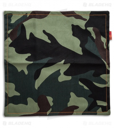 "Hanks by Hank 10"" x 10"" Handkerchief - Green Camo/Polka Dot"