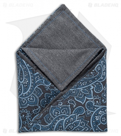 "Hanks by Hank 10"" x 10"" Handkerchief - Dapper Blue Paisley"