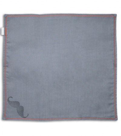 "Hanks by Hank 10"" x 10"" Handkerchief - Blue Wire"