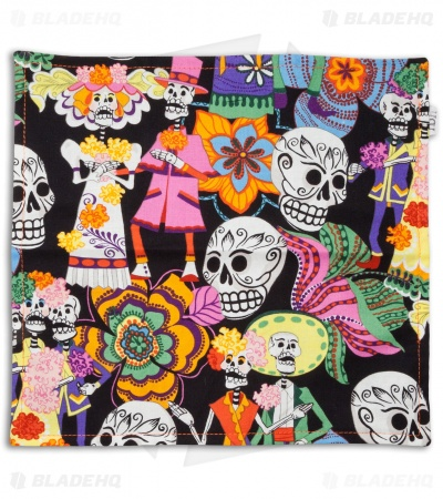 "Hanks by Hank 10"" x 10"" Handkerchief - Day of the Dead"