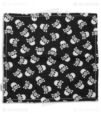 "Hanks by Hank 10"" x 10"" Handkerchief - Jolly Roger"