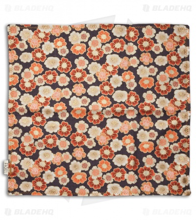 "Hanks by Hank 10"" x 10"" Handkerchief - Orange Floral"