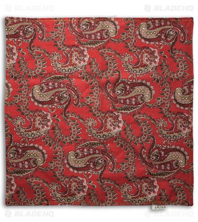 "Hanks by Hank 10"" x 10"" Handkerchief - Red Paisley"