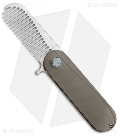 HEAdesigns Sabertooth Folding Comb Gray Titanium (Bead Blast S35VN)