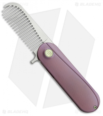 HEAdesigns Sabertooth Folding Comb Purple Titanium (Bead Blast S35VN)