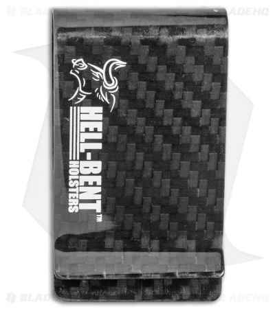 Hell-Bent Holsters HB Logo Money Clip (Carbon Fiber)