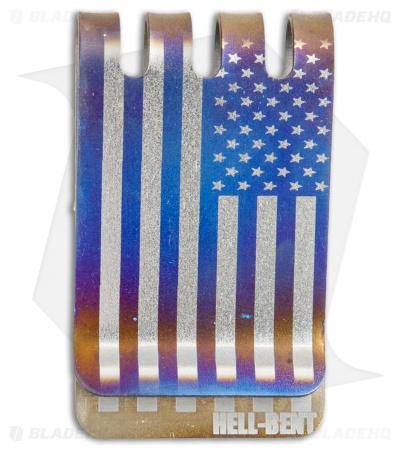 Hell-Bent Holsters American Flag Titanium Money Clip (Anodized)