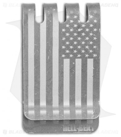 Hell-Bent Holsters American Flag Titanium Money Clip (Stonewash)