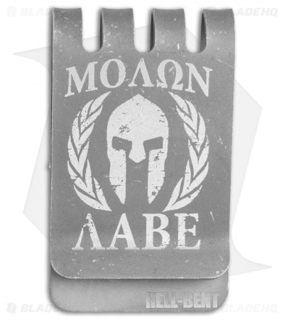 Hell-Bent Holsters Molon Labe Titanium Money Clip (Distressed)