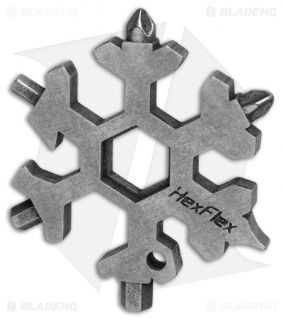 HexFlex Adventure Metric Pocket Tool Keychain - Stainless Steel