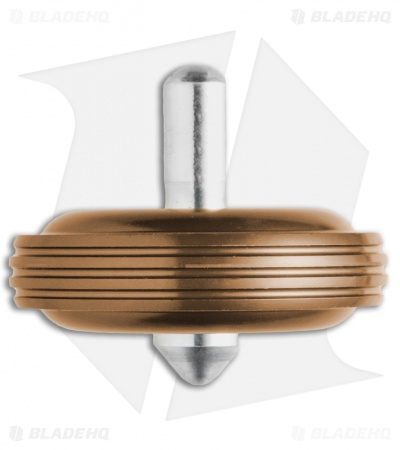 Karas Kustoms Machined Toy Spinning Top Brown (Aluminum)