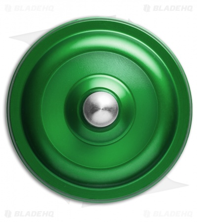 Karas Kustoms Machined Toy Spinning Top Green (Aluminum)