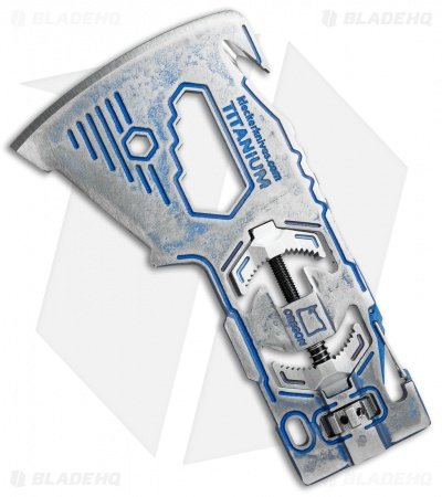 Klecker Ti-KLAX Titanium Lumberjack Axe Head Multi-Tool (10-in-1)