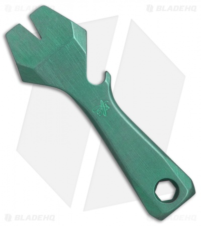 KnifeGuys Impact Tool  (K.I.T.) Titanium Pocket Tool - Green Stonewashed
