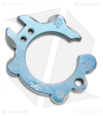 KnifeGuys Tipsy Turtle Titanium Keychain Bottle Opener - Formation Blue Anodized