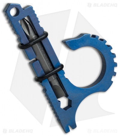 Koch Tools Duo Deuce Keychain Pocket Tool - Blue Anodized Titanium