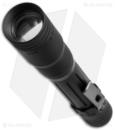 LensLight 3x123 Triple-Output Flashlight Black Smooth Bezel (850 Lumens)