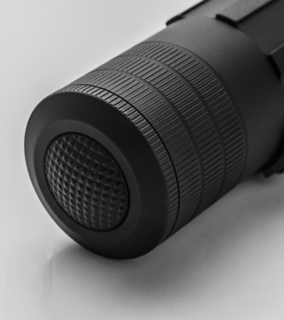 LensLight Mini Black Single-Output Flashlight w/ Strike Bezel