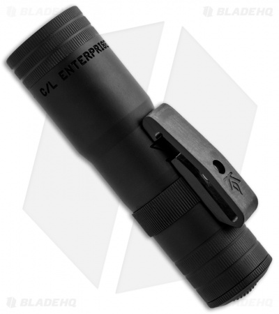 LensLight Mini Black Dual-Output Flashlight w/ Smooth Bezel