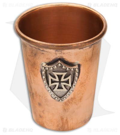 "Lion ARMory ""Iron Cross"" Silver Shield Copper Shot Glass"