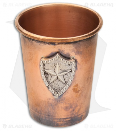"Lion ARMory ""Nautical Star"" Silver Shield Copper Shot Glass"
