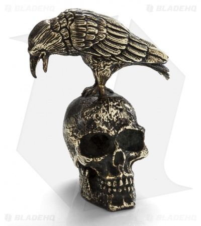 Lion ARMory Crow and Skull Statue
