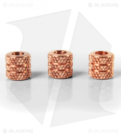 Copper CU Knurled Set of Beads (3)