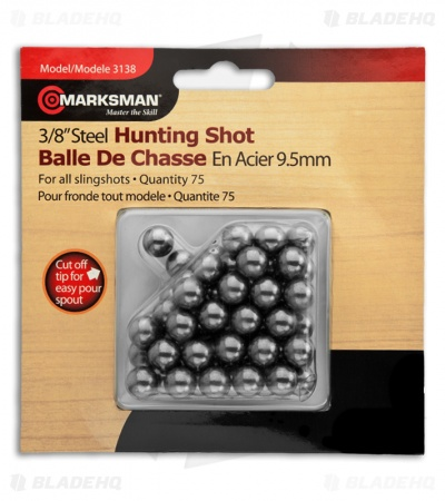 "Marksman 3/8"" Steel Hunting Shot Ball Bearings (75 Qty) 3138"