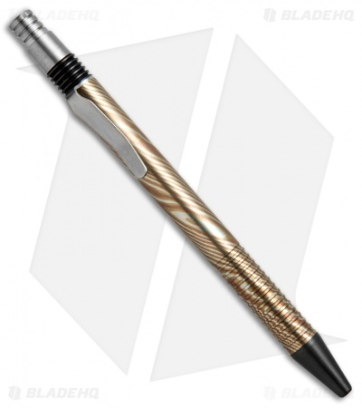 Matthew Martin Tactical 375 Series Mokume/Zirconium Click Pen