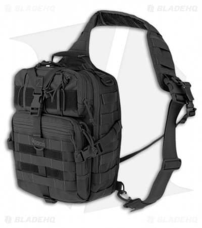 Maxpedition Malaga Gearslinger Black Shoulder Pack Hydration Bag 0423B