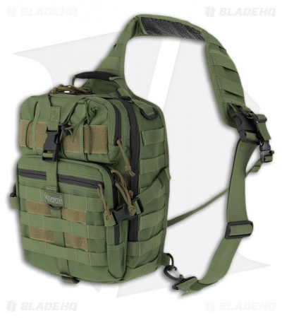 Maxpedition Malaga Gearslinger OD Green Shoulder Pack Hydration Bag 0423G