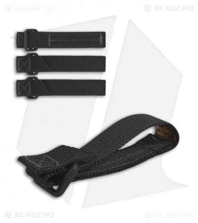 "Maxpedition 3"" TacTie Attachment Strap System (Pack of 4) Black 9903B"