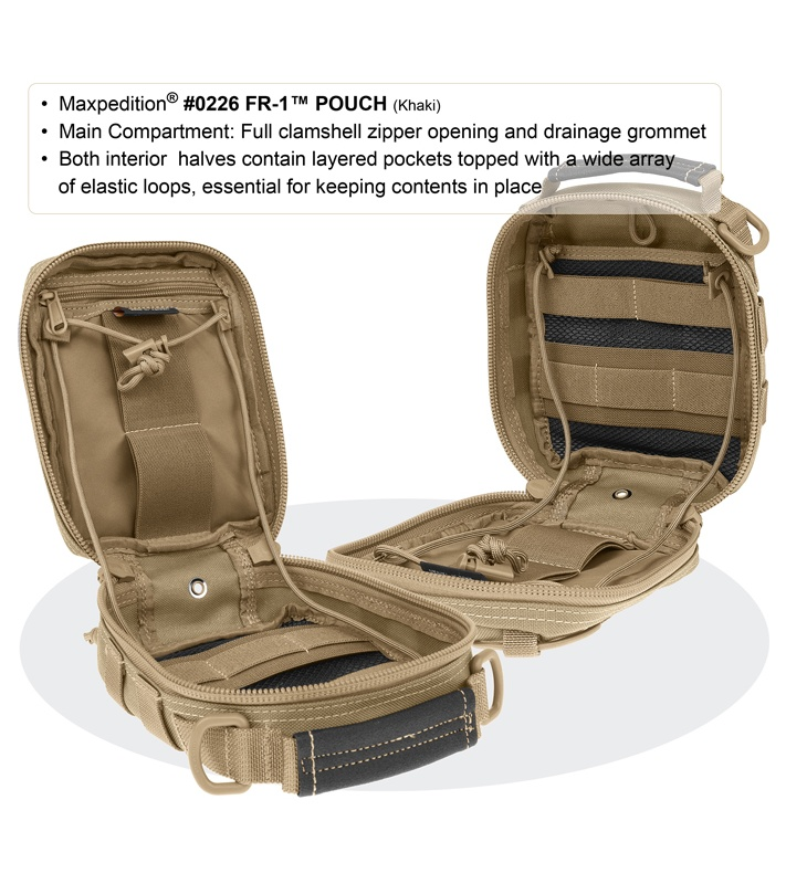 Maxpedition Fr 1 Black Utility Pouch First Aid Bag 0226b