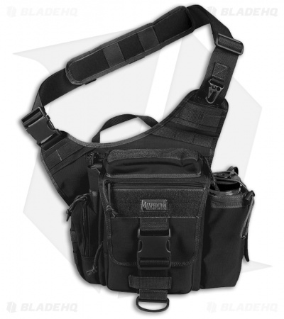 Maxpedition Jumbo S-Type Versipack Black Shoulder Sling Pack Bag 0413B