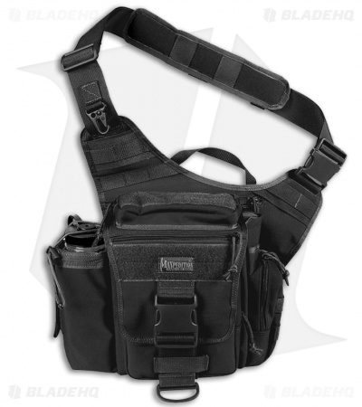 Maxpedition Jumbo Versipack Black Shoulder Sling Pack Bag 0412B