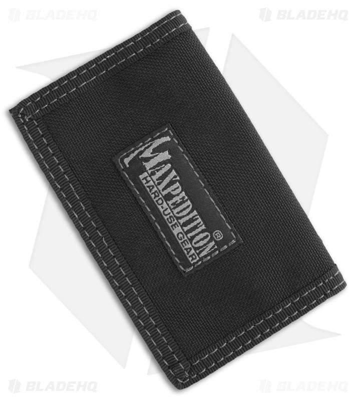 Maxpedition Micro Wallet Black Super Thin Id Holder 0218b Blade Hq