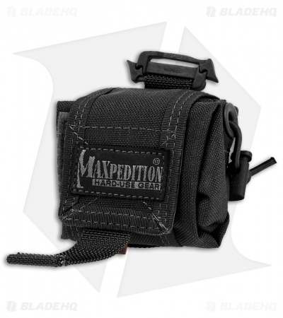 Maxpedition Mini Rollypoly Black Folding Dump Utility Bottle Pouch 0207B
