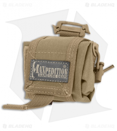 Maxpedition Mini Rollypoly Khaki Folding Dump Utility Bottle Pouch 0207K