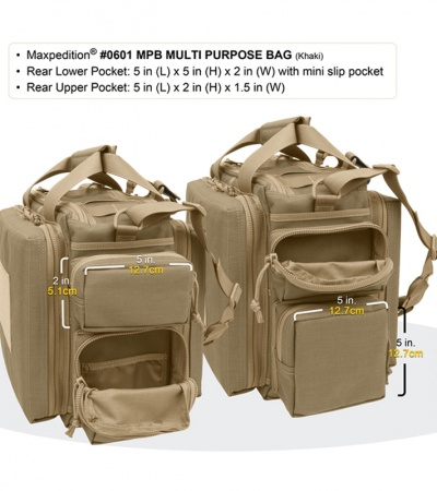 Maxpedition Multi-Purpose Bag Khaki Tactical Shoulder Range Bag 0601K