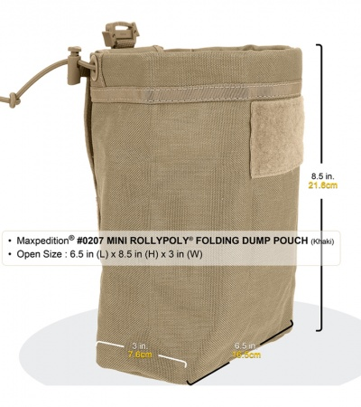 Maxpedition Rollypoly MM Khaki Folding Dump Utility Pouch 0208K