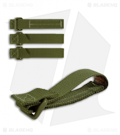 "Maxpedition 3"" TacTie Attachment Strap System (Pack of 4) OD Green 9903G"