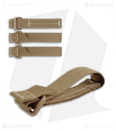 "Maxpedition 3"" TacTie Attachment Strap System (Pack of 4) Khaki 9903K"