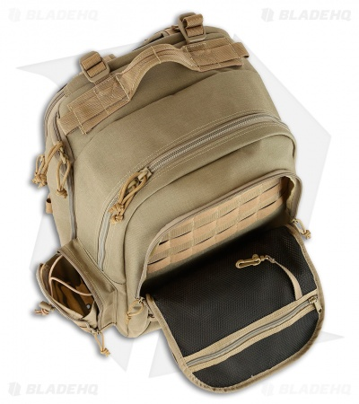 Maxpedition Ordnance Range Backpack w/ Dual Pistol Cases Khaki PT1491K