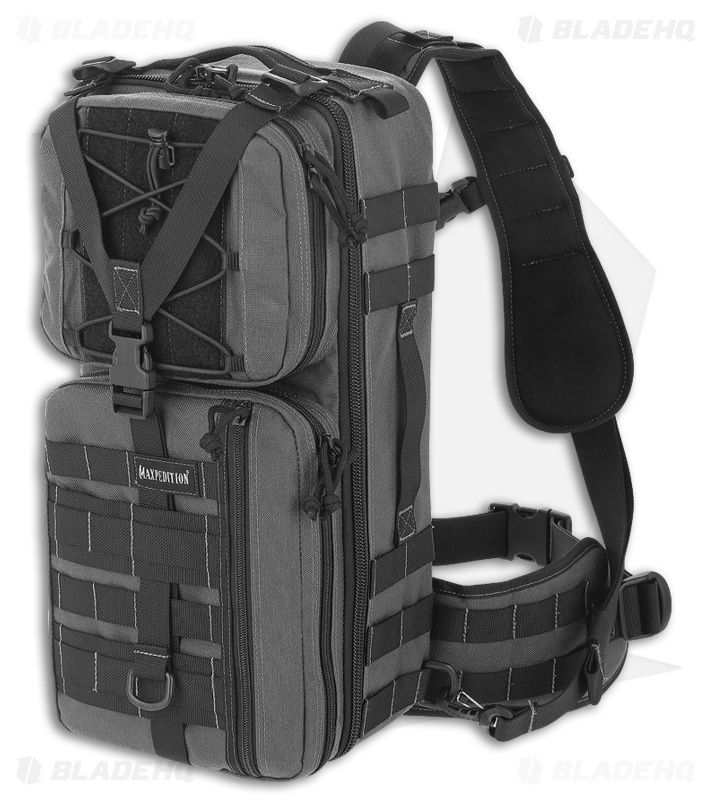Maxpedition Gila Gearslinger Small Shoulder Sling Pack Ccw Bag Wolf Gray Pt1061w