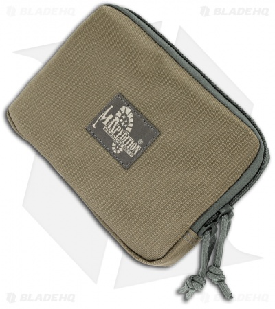"Maxpedition Hook & Loop 5"" x 7"" Zipper Pocket Khaki/Foliage Pouch 3525KF"