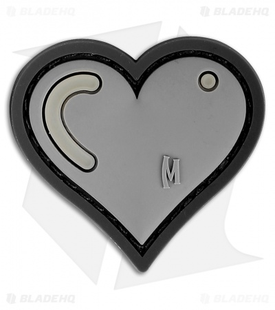 "Maxpedition 1.61"" x 1.5"" Heart Patch PVC (Swat)"